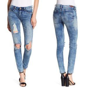 BLANKNYC Denim Destructed Skinny Jeans